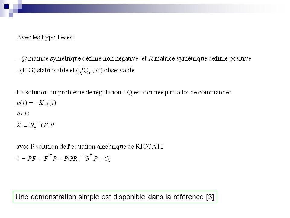 Une démonstration simple est disponible dans la référence [3]